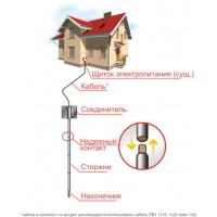 Комплект н/ж заземления для частного дом ZUVER 4.4