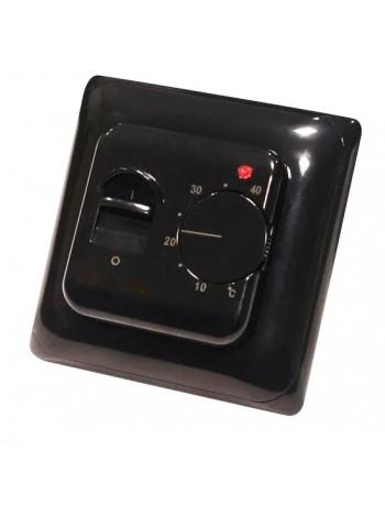 Черный терморегулятор для теплого пола RTC 70.26