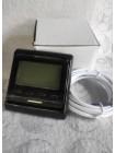 Чорний терморегулятор для теплої підлоги програмований М6.716 з дисплеєм
