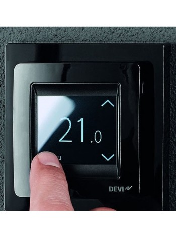 Терморегулятор для теплого пола DEVI reg Touch черный