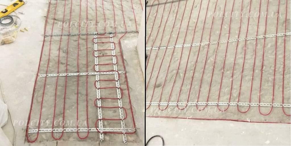 Монтаж кабеля под плитку